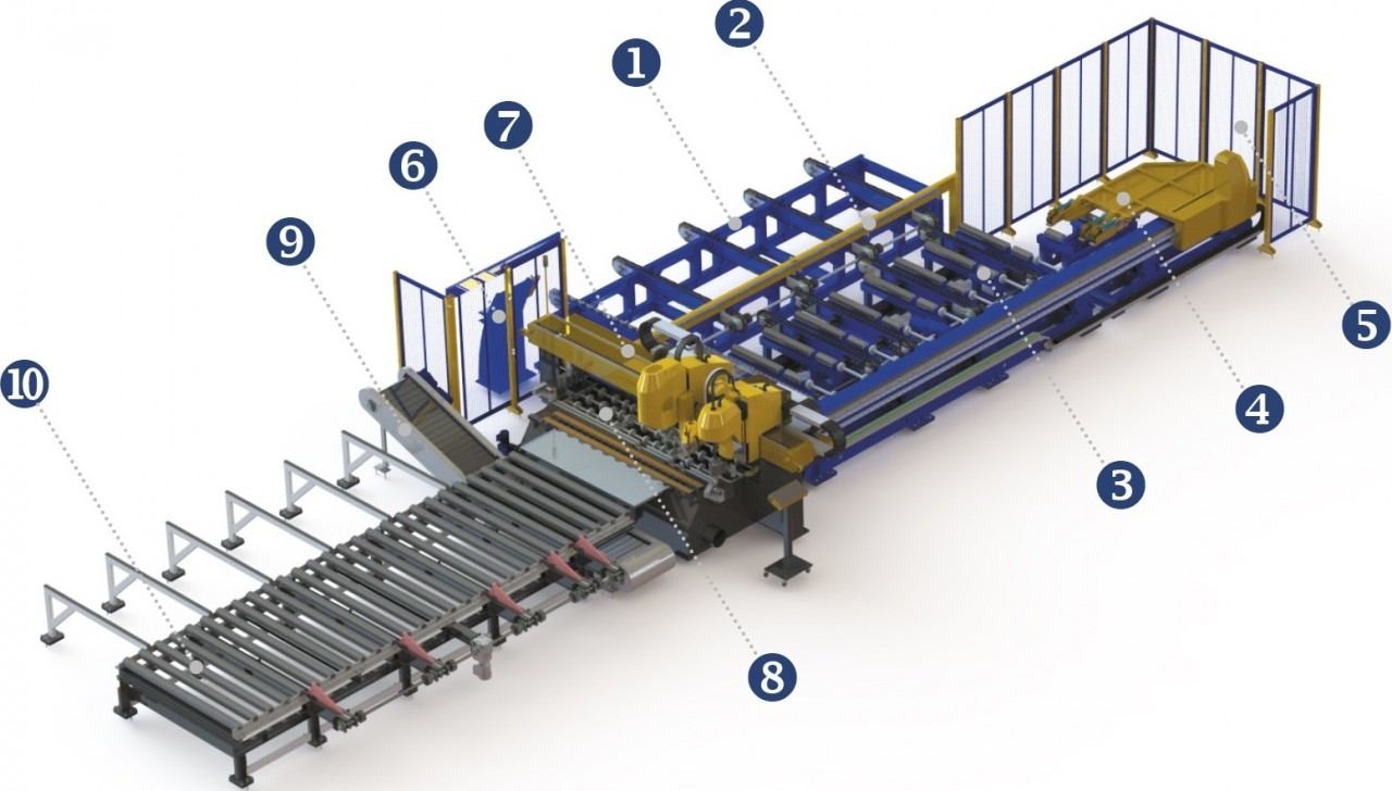 Visualization of an automatic line for manufacture of flanged parts based on a DS machine