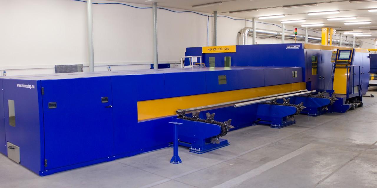 Stroj MSF na rezanie vláknovým laserom s automatickou nakládkou a postupným podávaním rúry do rezacieho priestoru