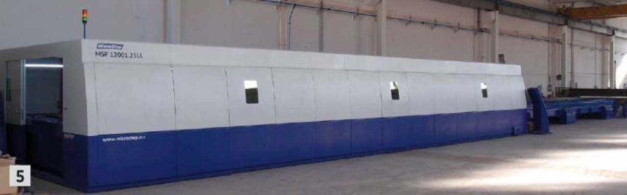 5 MSF machine with a work area of 12x2,5 m, customer Caccin (Italy)