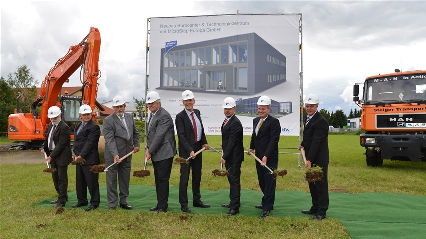 Startschuss für ein millionenschweres Projekt. Wirtschaft Die Microstep Europa GmbH beginnt mit dem Bau eines Firmensitzes. 2016 folgt ein Technologiezentrum