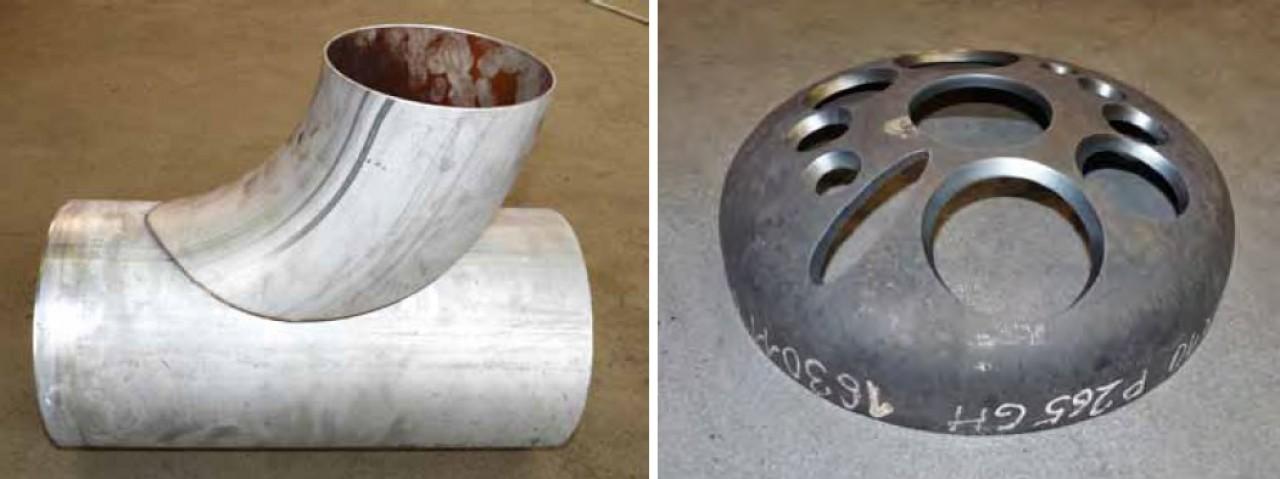 Werkstücke, die mit einer CNCPlasmaschneidanlage der MG Baureihe geschnitten wurden.